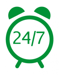 24 hour emergency service and return call...
