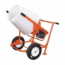 Mixer, 2 Cu Ft Wheelbarrow-style - PolyPro Mixer Model 350W - Renting