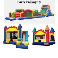 Rental of  the inflatable trampolines