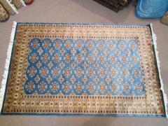 Handmade Persian Jaldar Blue Rectangle