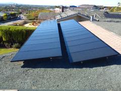 Solar panel installation,