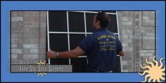 Lone Star Texas Solar Screens™ Installation