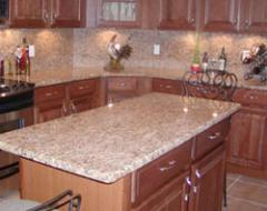 Fabrication and installation of countertops,  tub