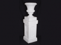 White Plastic Urn with Column