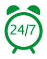 24 hour emergency service and return call service within 1hour!